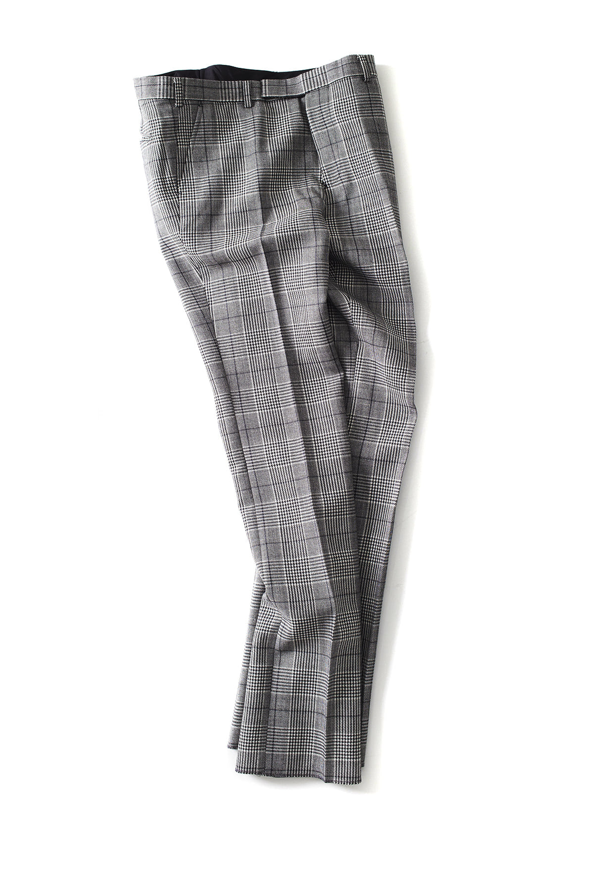 JOHN LAWRENCE SULLIVAN : Glen Check Straight Pants (Grey)