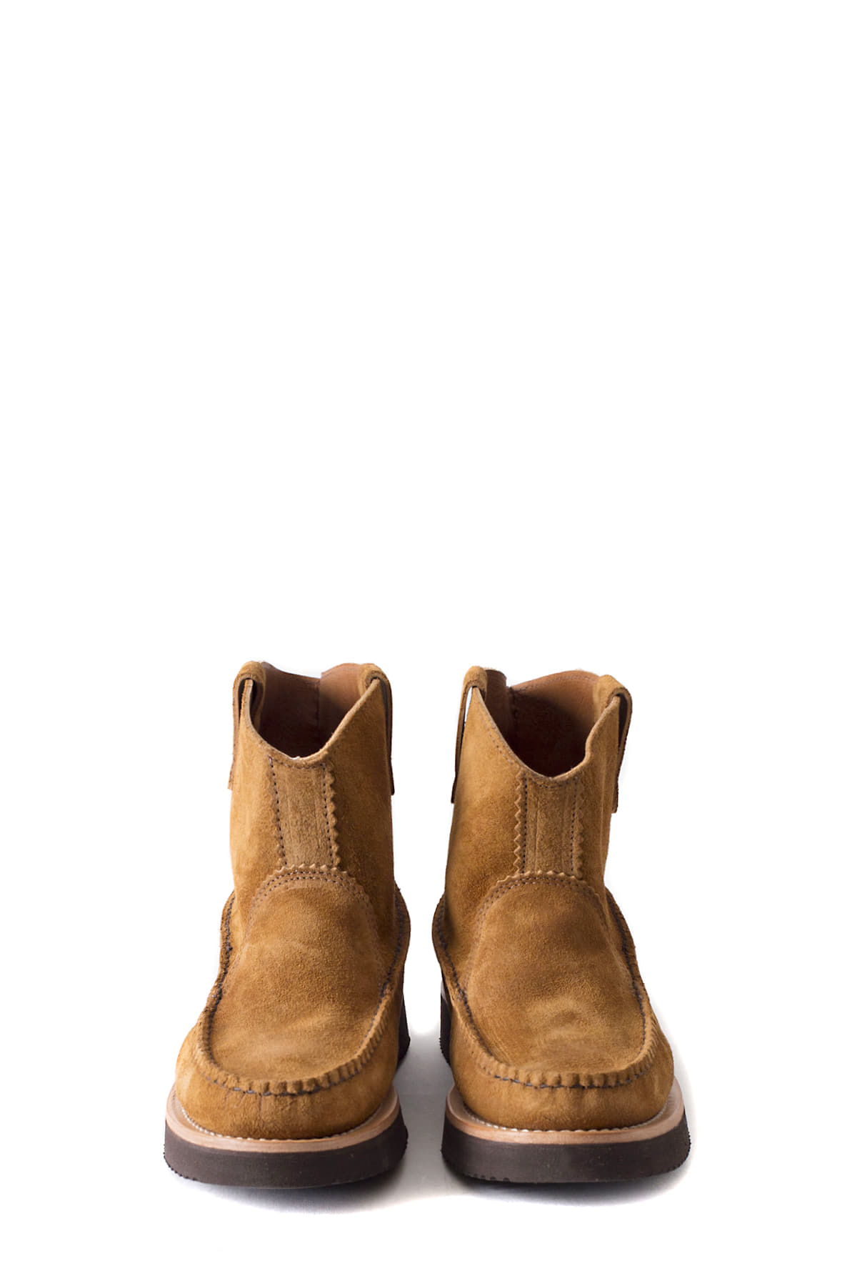 Yuketen : All Handsewn Short Pull-On Boots (Brown)