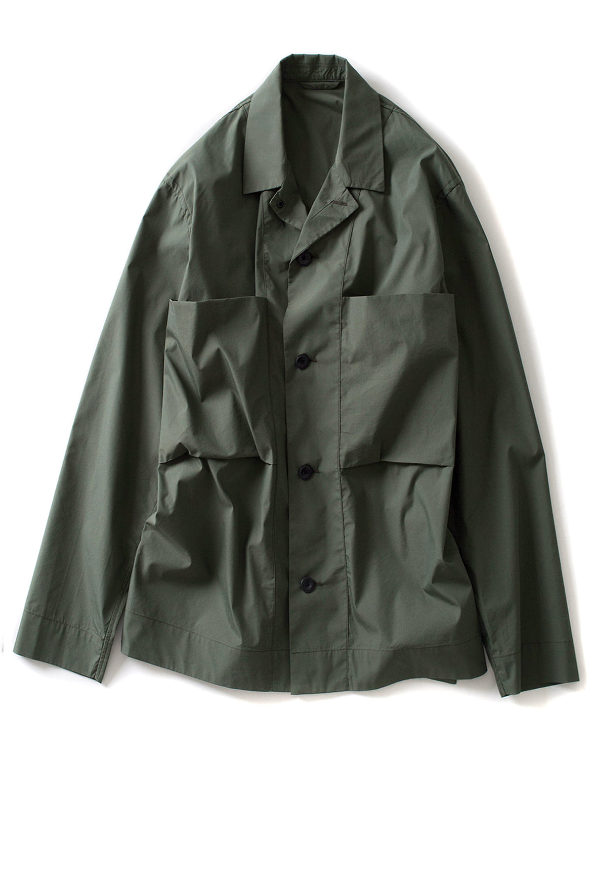 Still by Hand : C/PE Shirt Jacket (Green)