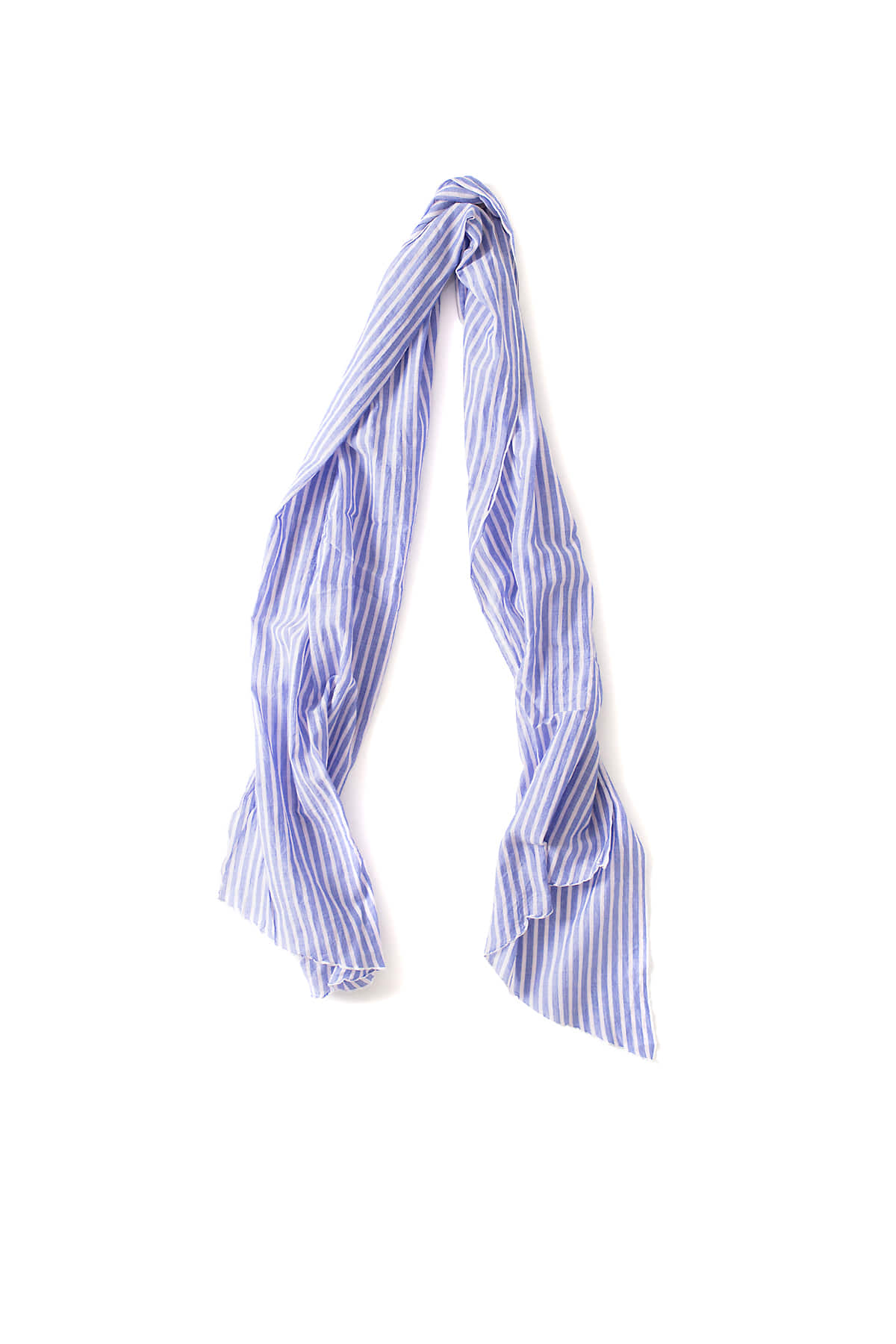 Engineered Garments :  Long Scarf (Lt Blue Wide Stripe)