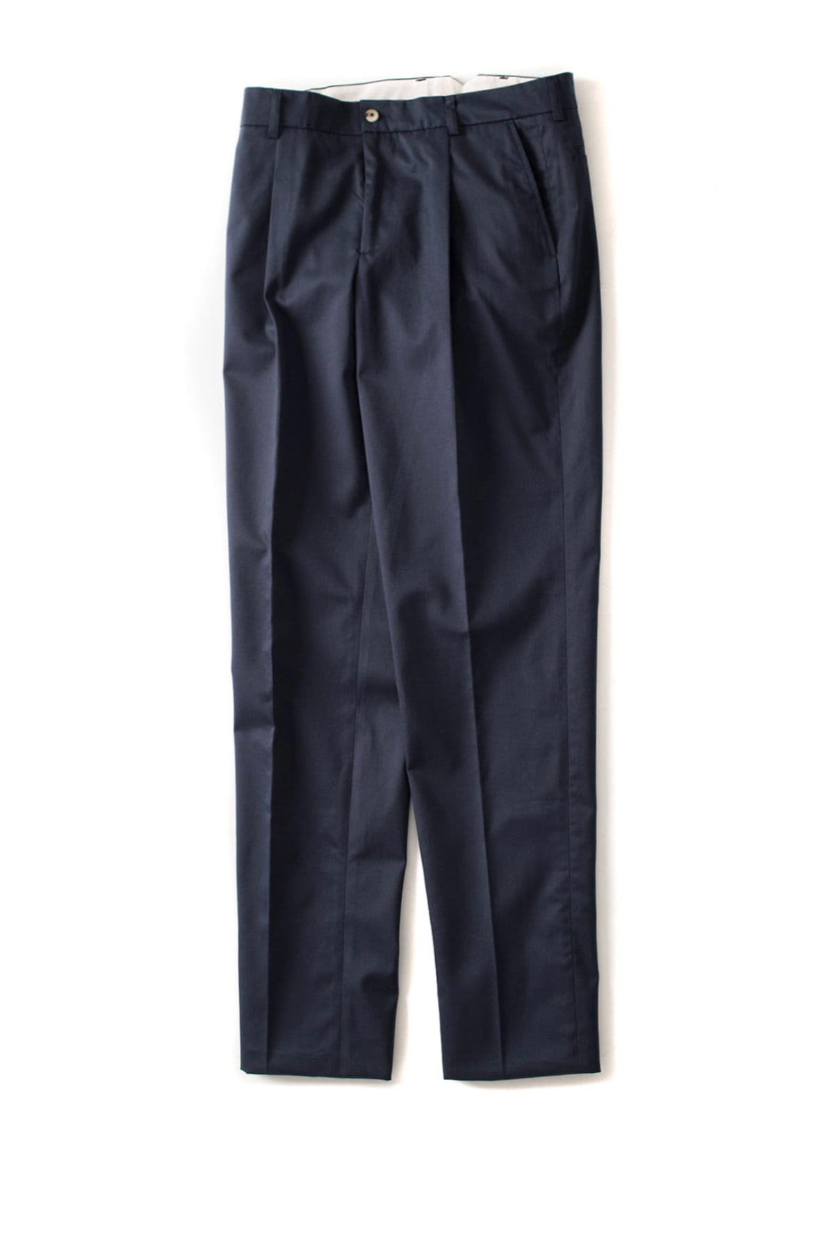 de bonne facture : One Pleat Trousers (Navy)