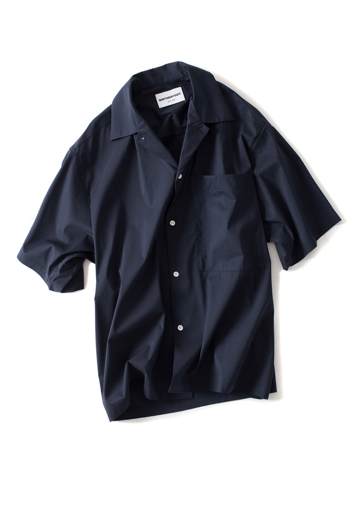 BIRTHDAYSUIT : Oversized HS Shirt(Deep Navy)