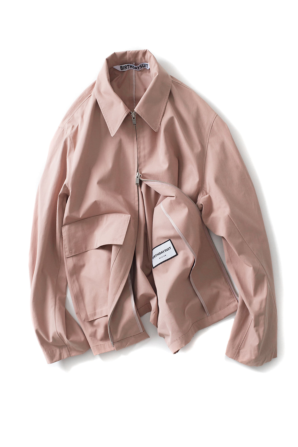 BIRTHDAYSUIT : Oversized Blouson(Antique Pink)