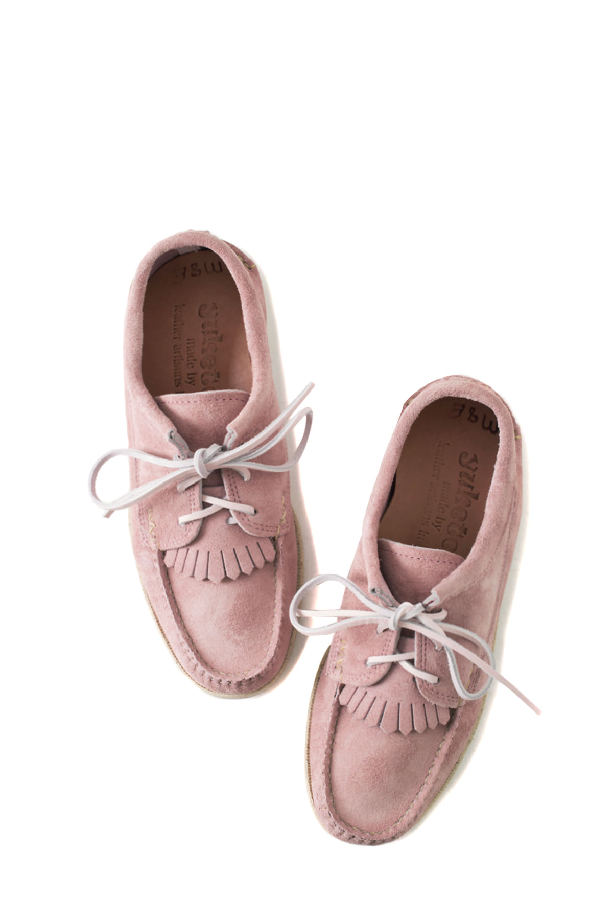 Yuketen : Blucher With Kiltie (Pink)