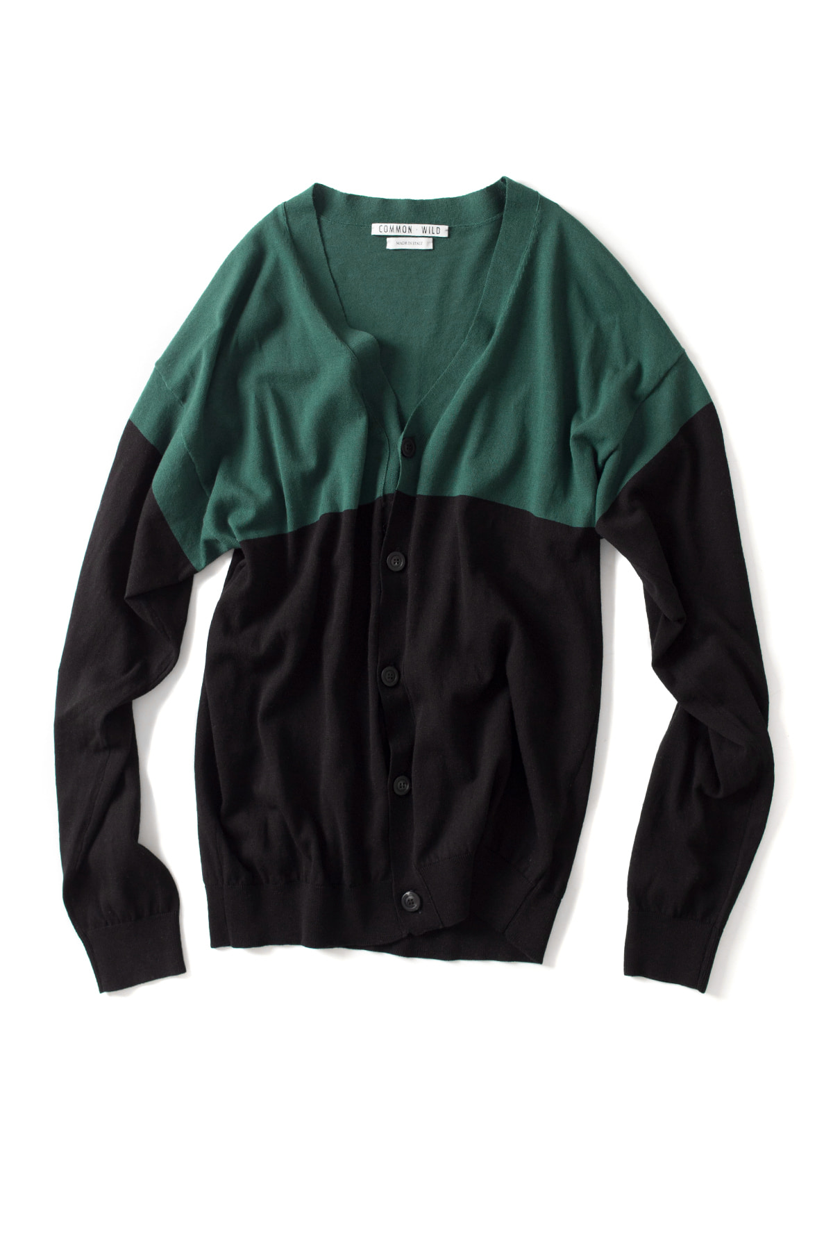 COMMON WILD :Knit Cardigan (Green)