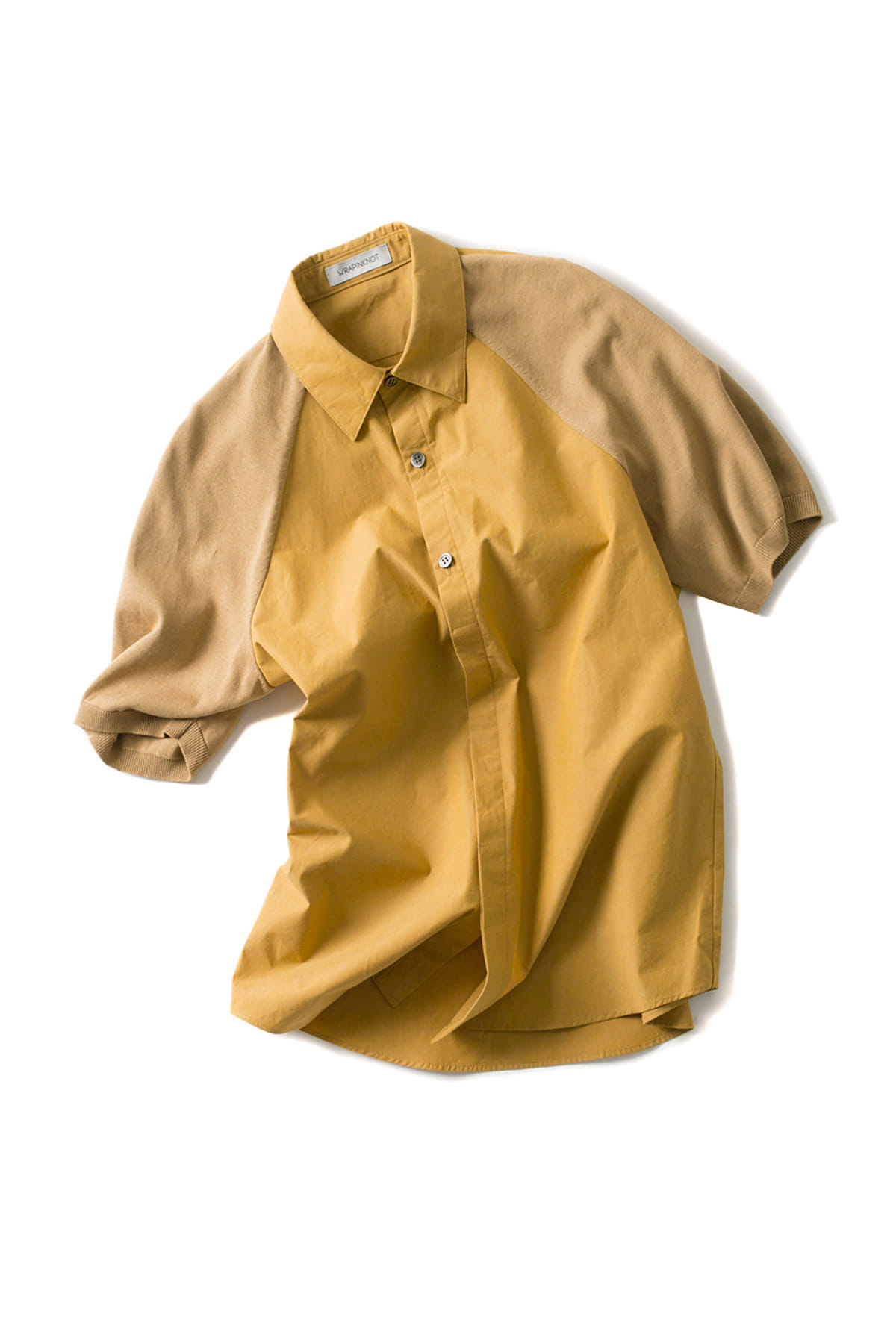 WRAPINKNOT : Combi Split Raglan H/S Shirt (Yellow)