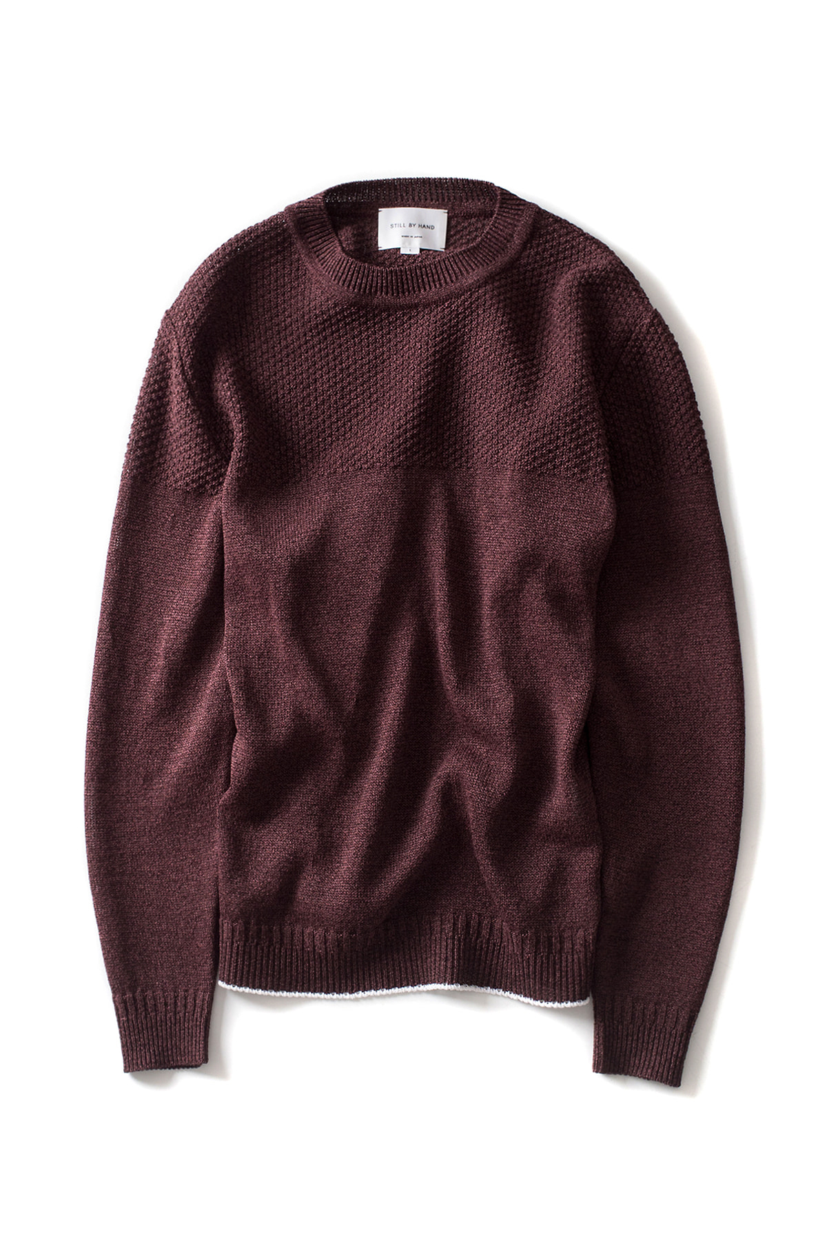 Still by Hand : Long Sleeve Paper Knit (Wine)