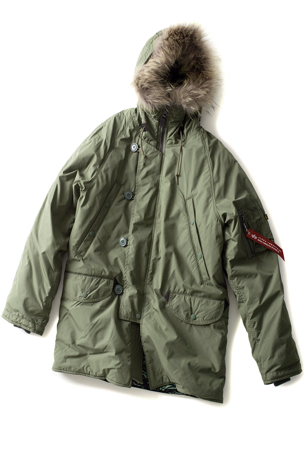 N.HOOLYWOOD x ALPHA INDUSTRIES : 982-CO01-064 (Olive)