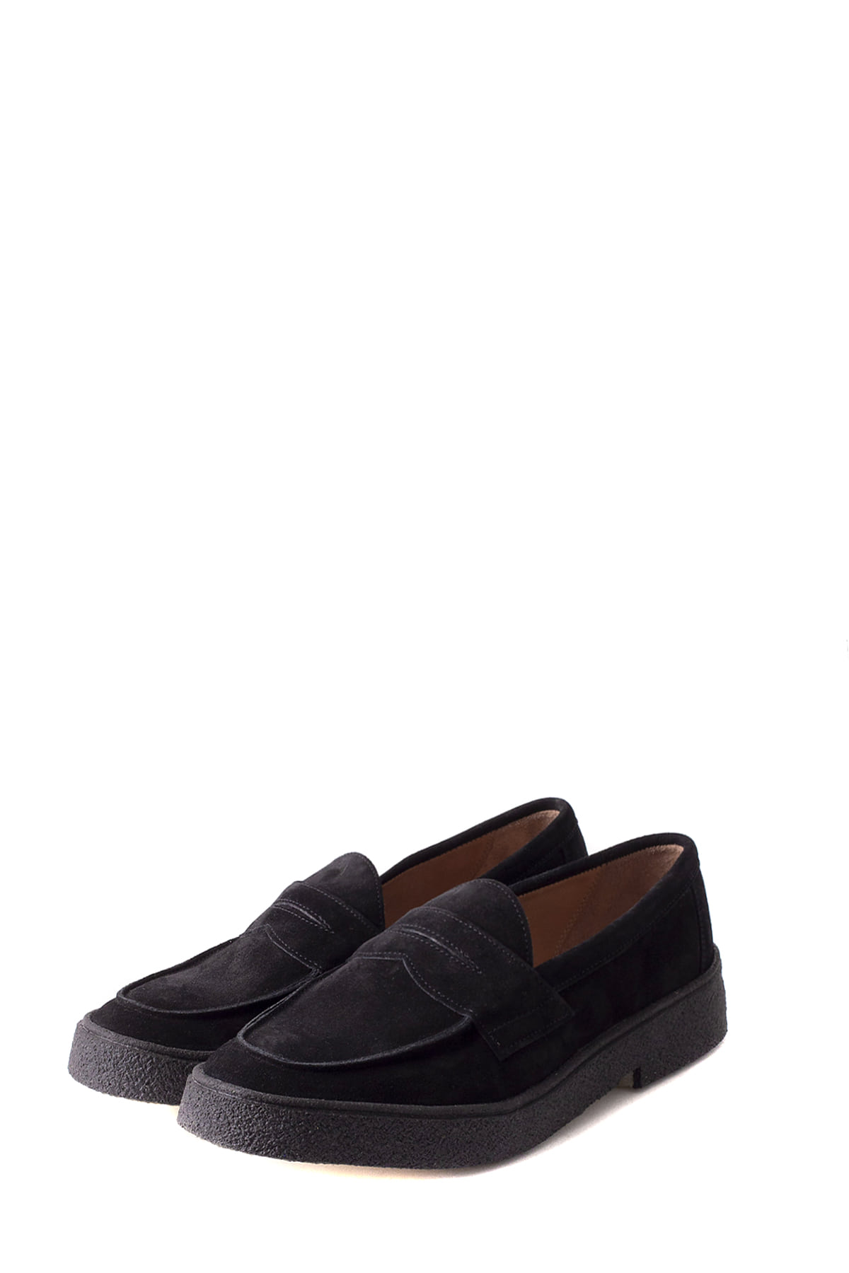 GEORGE COX :  Penny Loafer (Black Suede)