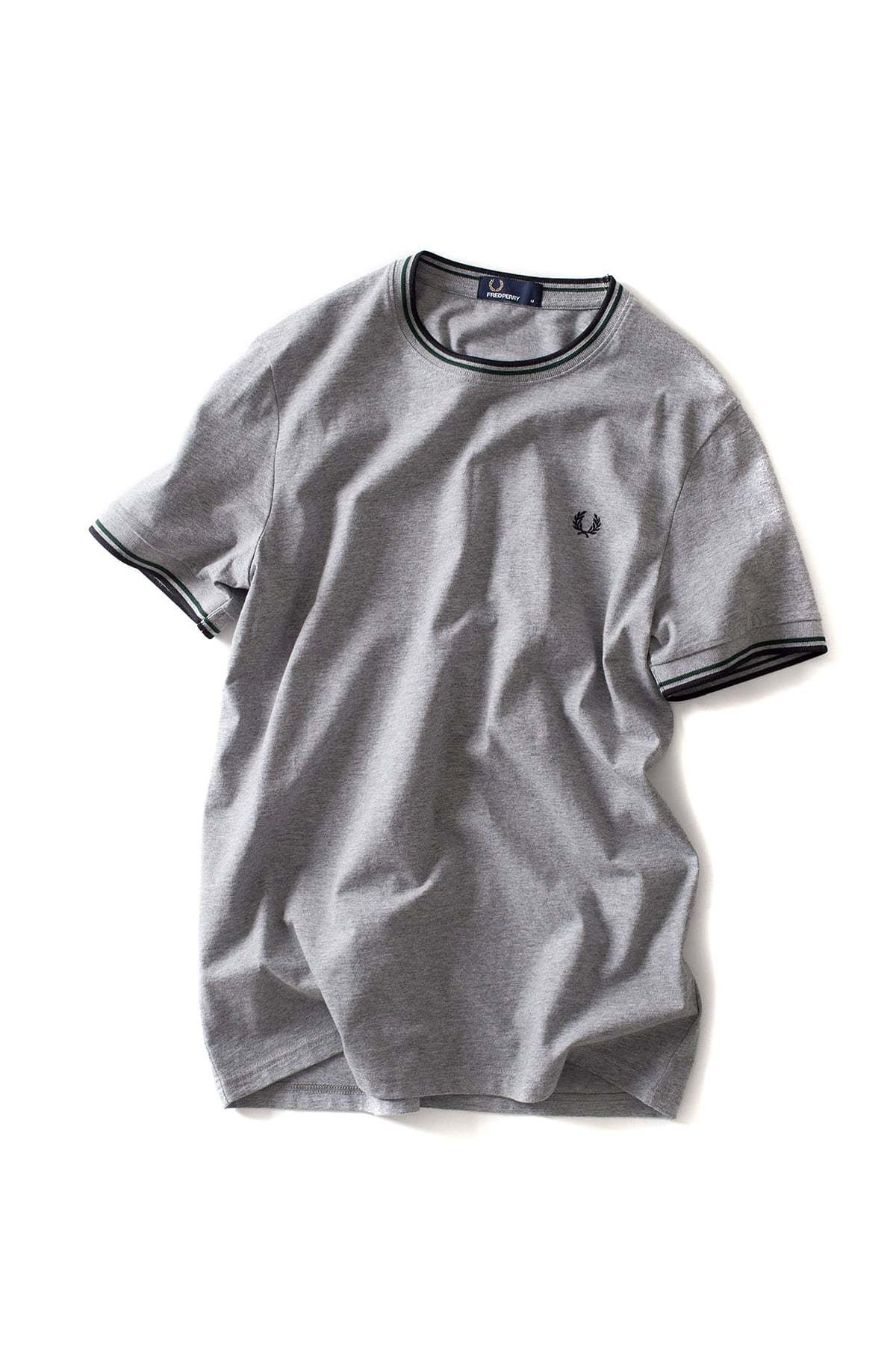 FRED PERRY : Twin Tipped T-Shirt (Steel Marl)