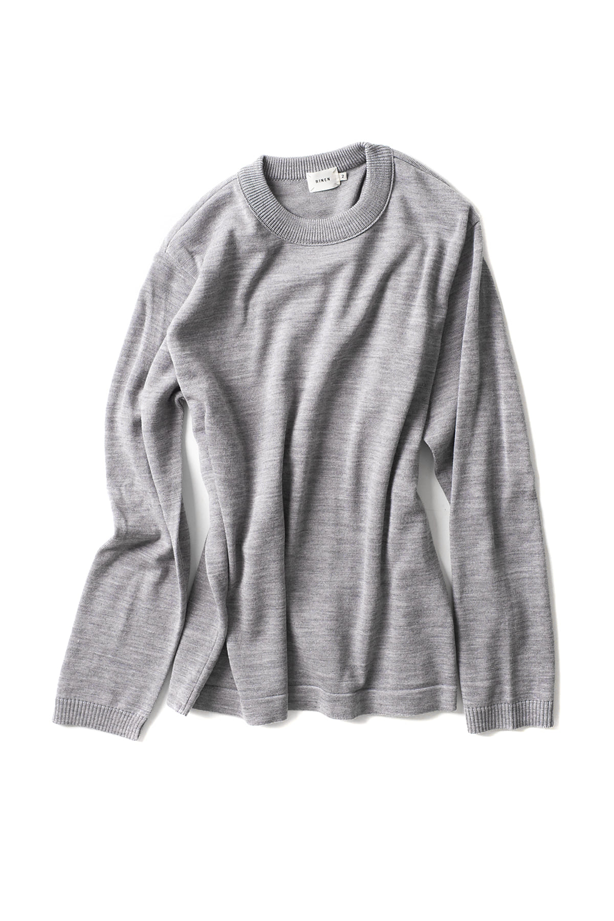 RINEN : Wool Knit Crewneck 13981 (Grey)