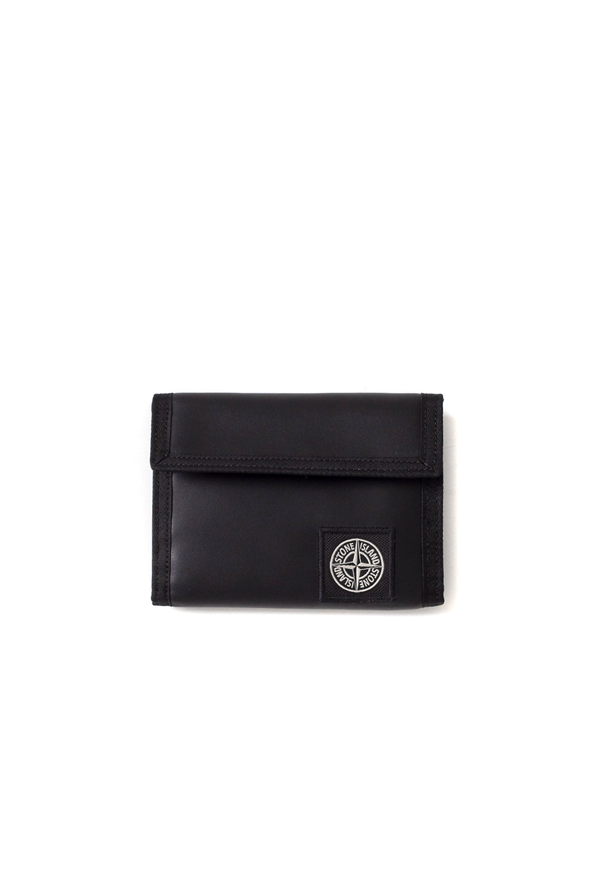 Stone Island : Leather Wallet (Black)