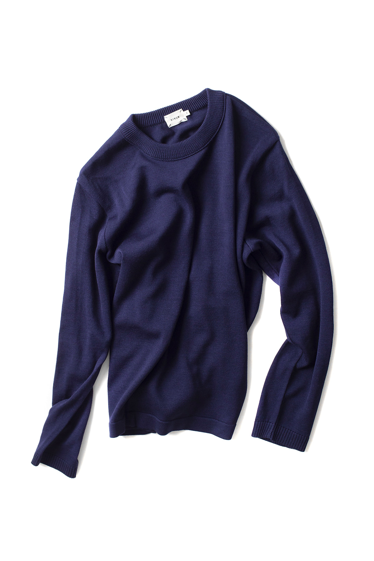 RINEN : Wool Knit Crewneck 13981 (Navy)