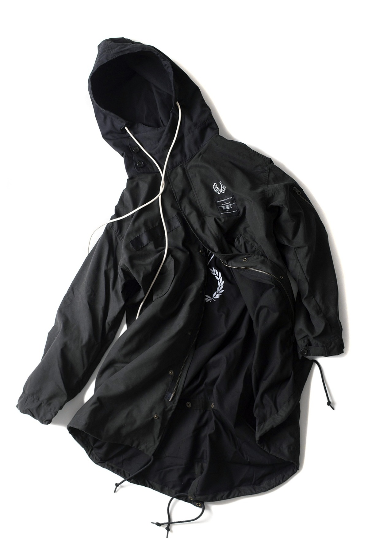 FRED PERRY x ART COMES FIRST : Printed Parka (Black)