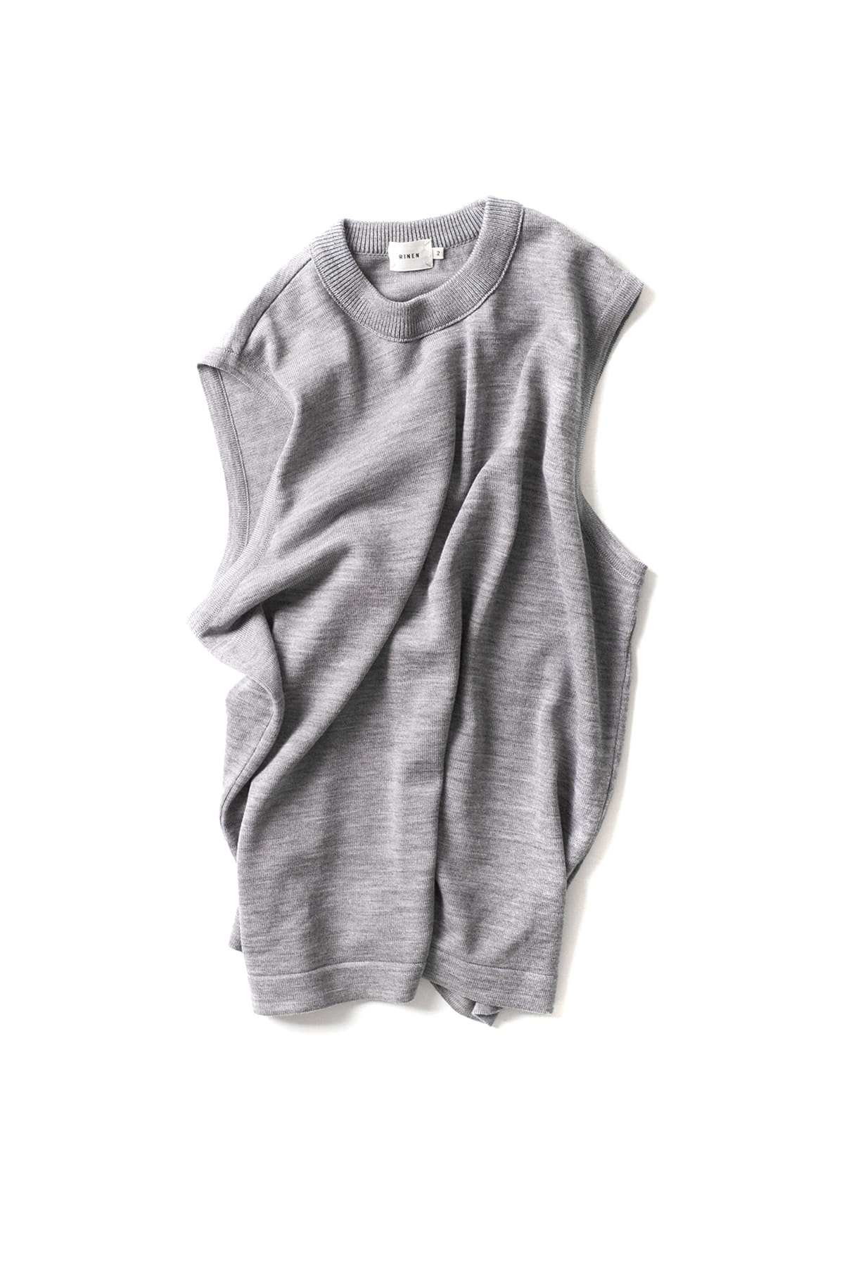 RINEN : Wool Knit Vest 13980 (Grey)