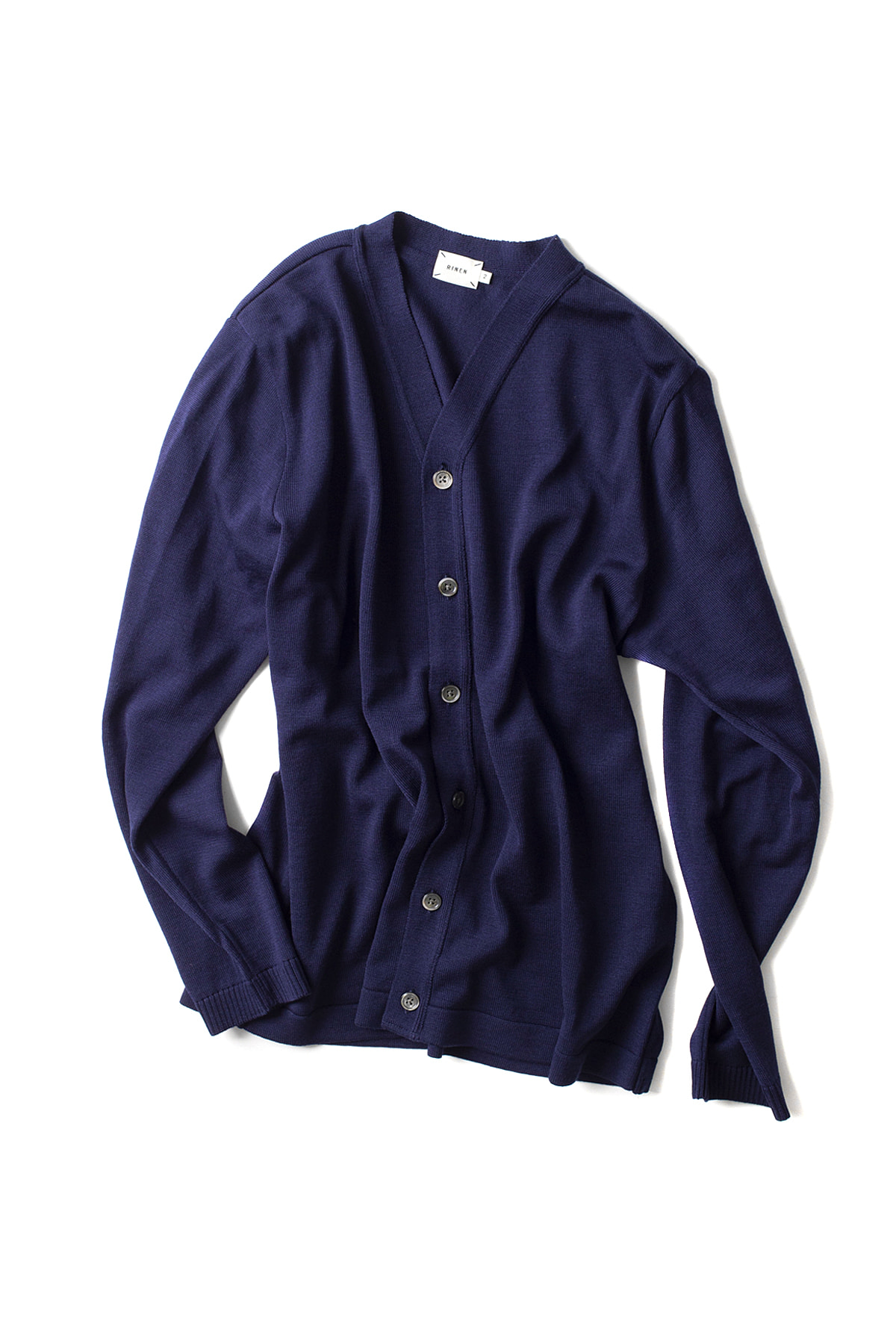 RINEN : Wool Knit Cardigan 13982 (Navy)