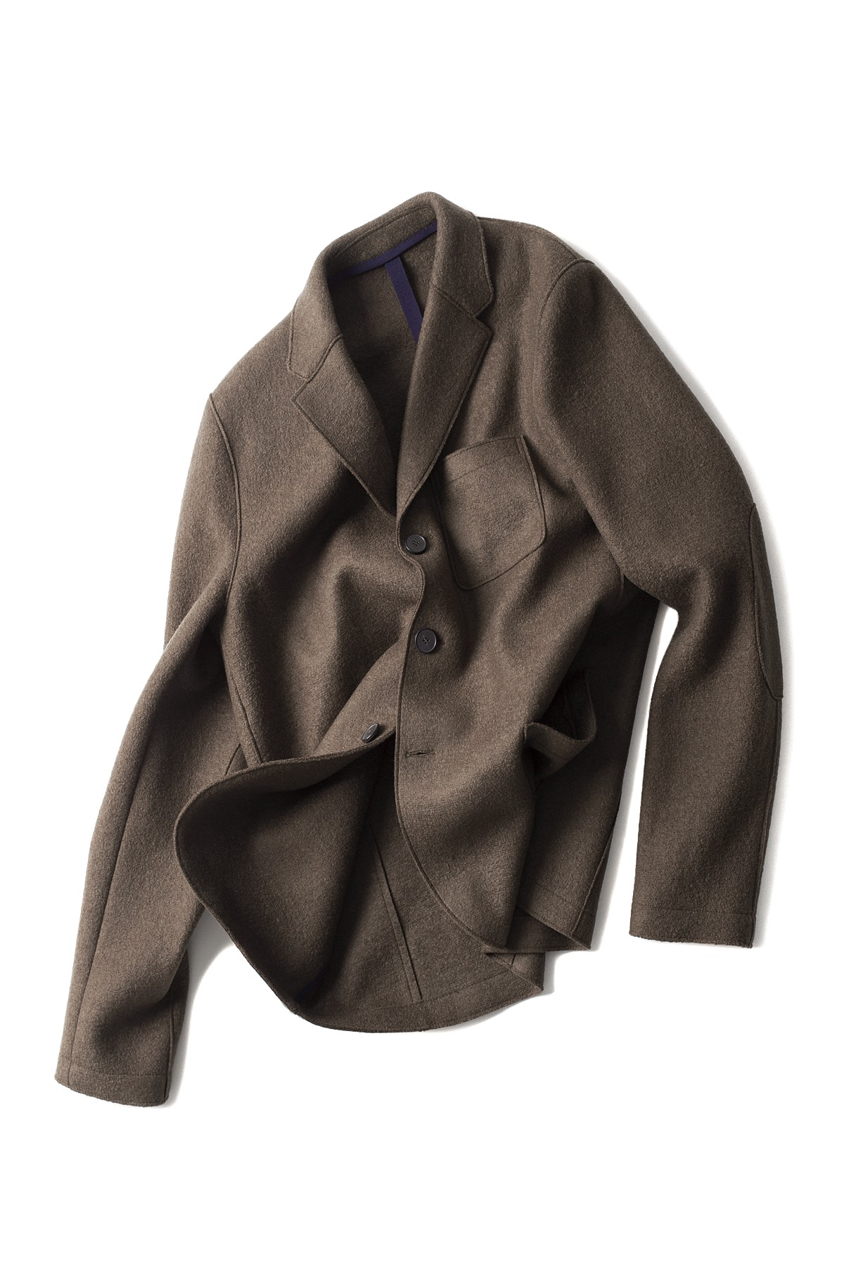 Harris Wharf London : 3.B Boxy Pressed Wool Jacket (Brown)