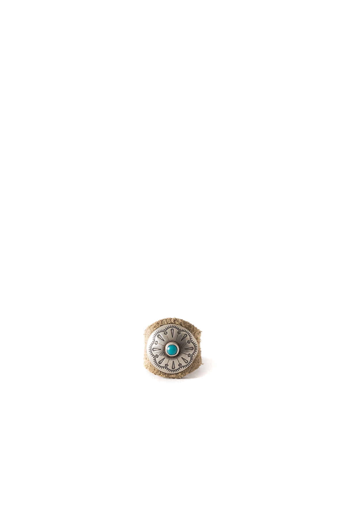 Yuketen : Leather Ring W/Concho (Golden Brown)