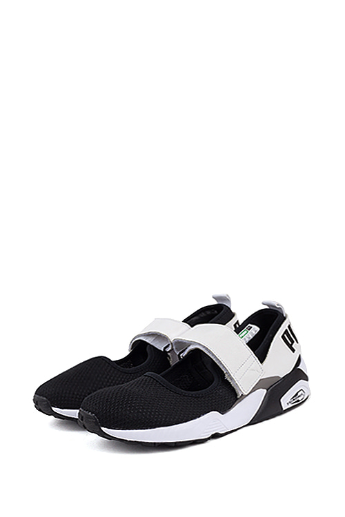 PUMA : Trinomic Open Sneaker (Black White / Steel Gray)