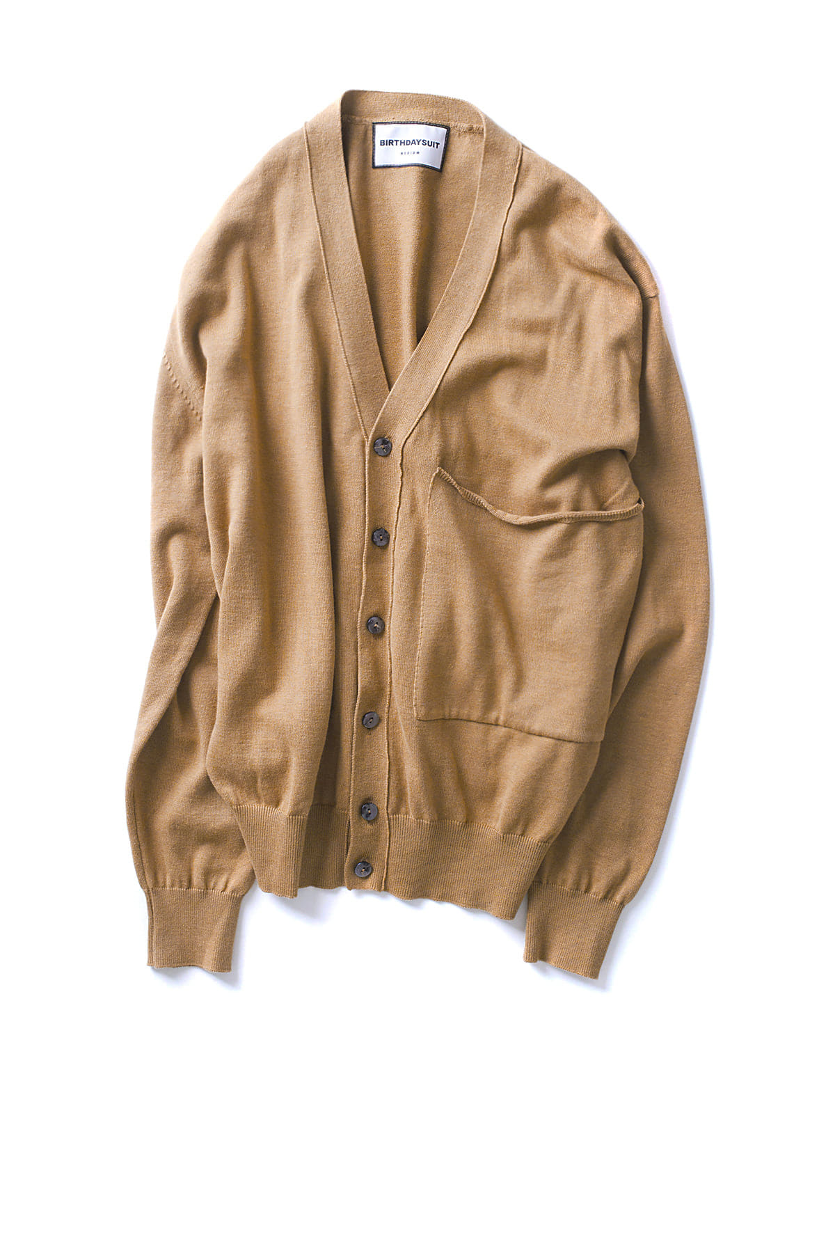BIRTHDAYSUIT : Big Pocket Knit Cardigan (Beige)