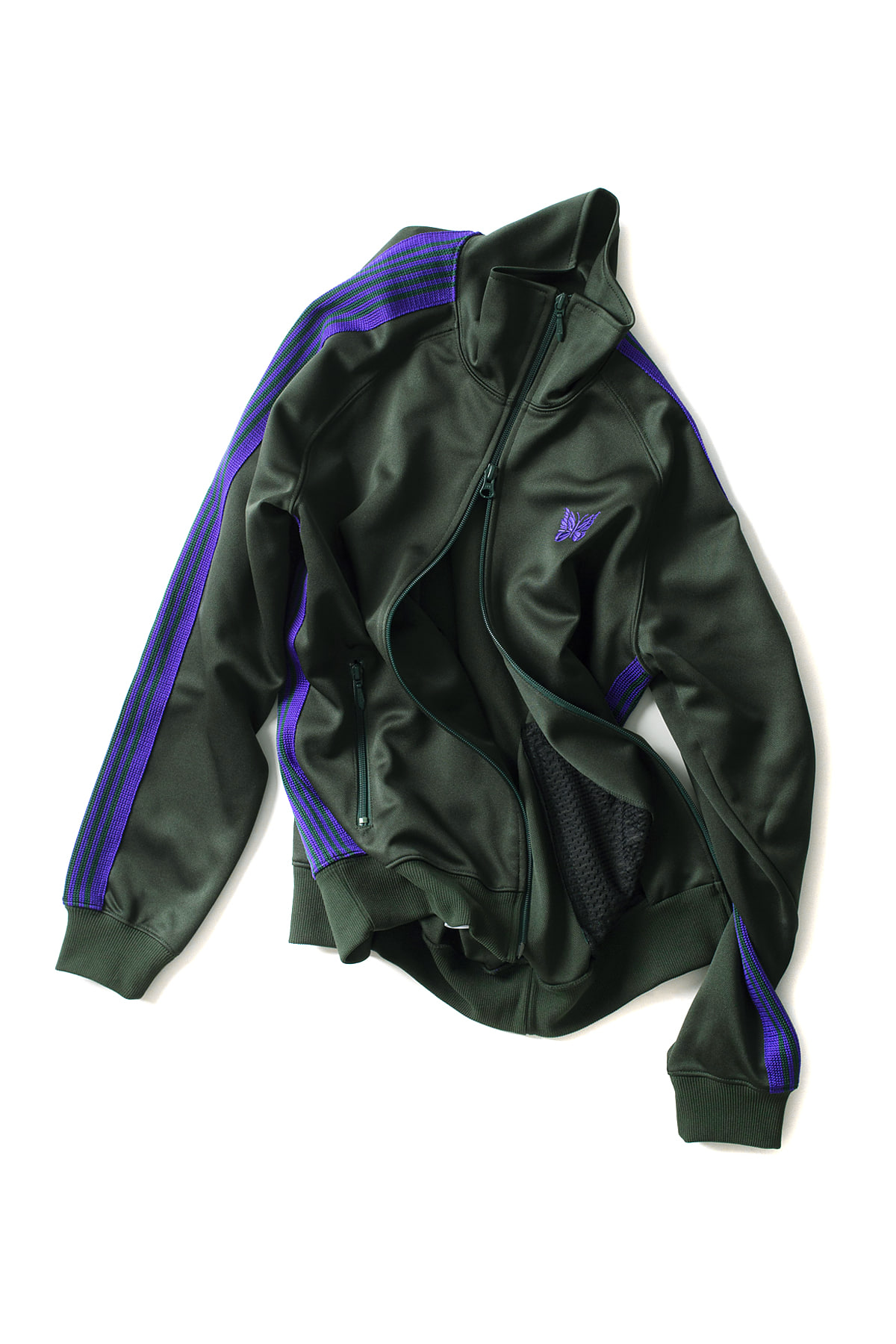 NEEDLES : Poly Smooth Narrow Track Jacket (Green)