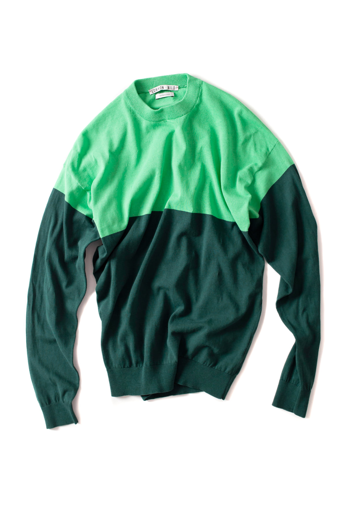 COMMON WILD : Round Neck Sweater (Green)