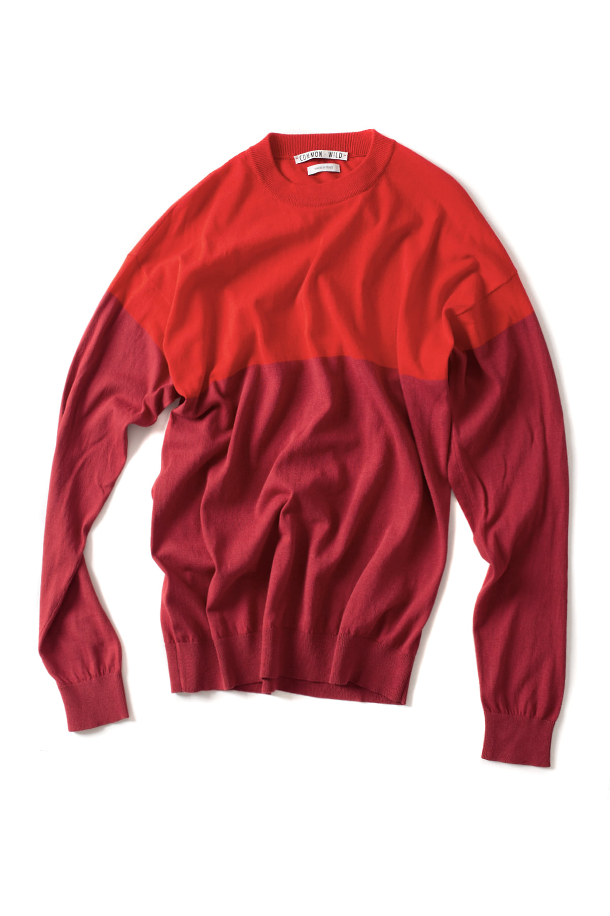 COMMON WILD : Round Neck Sweater (Red)