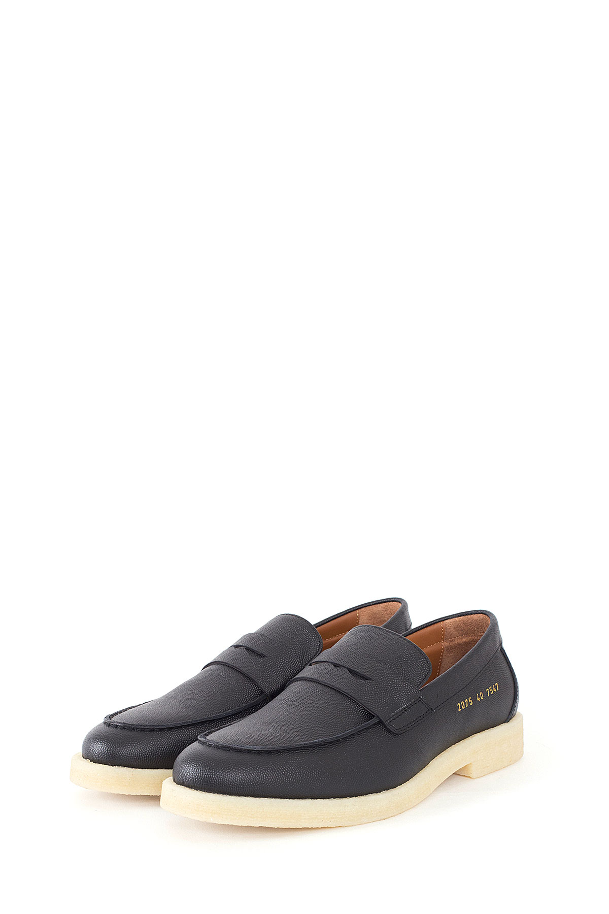 Common Projects : Pebble Grain Leather Penny Loafers (Black)
