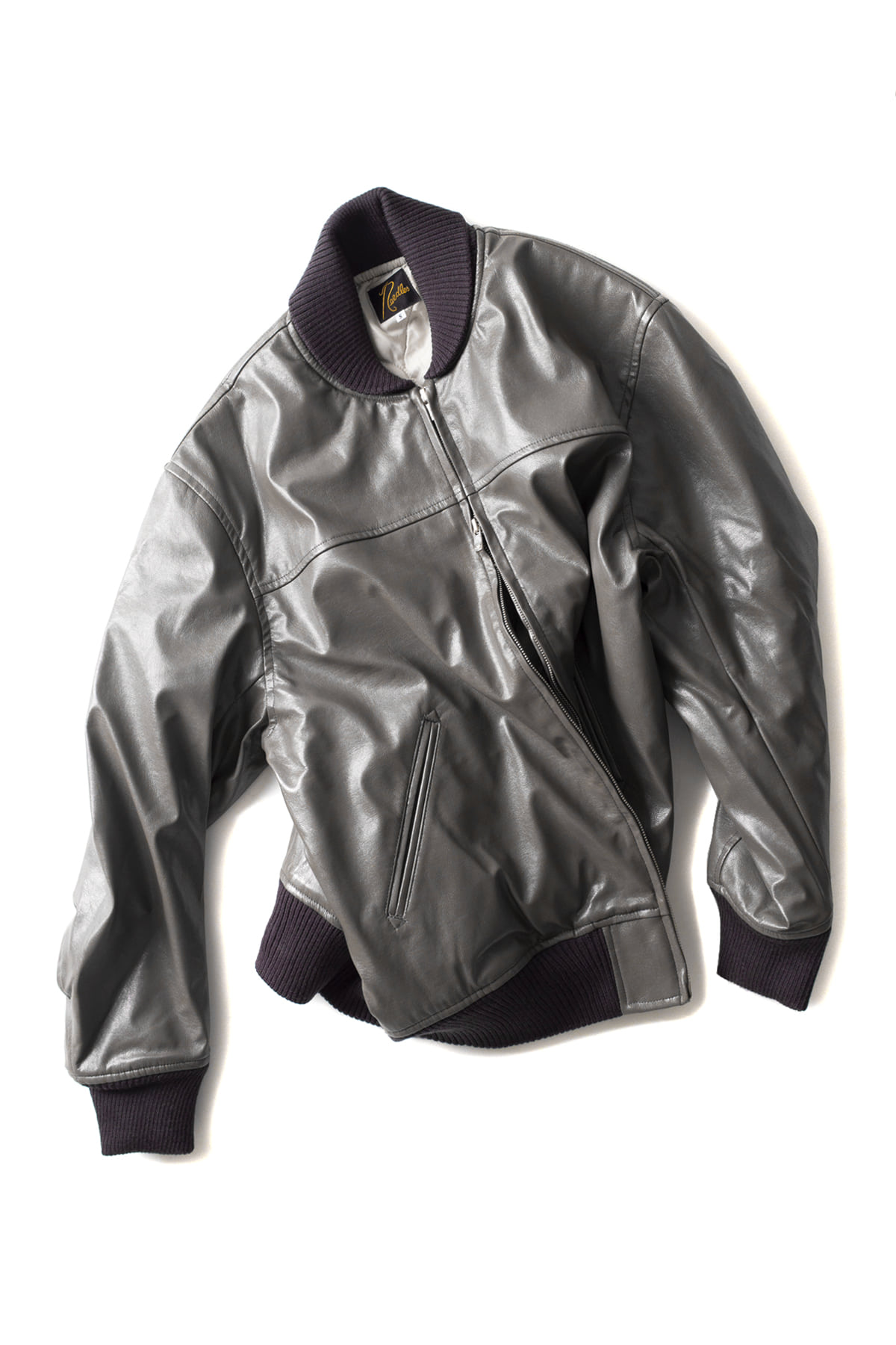 NEEDLES : Synthetic Leather G-1 Jacket (Grey)