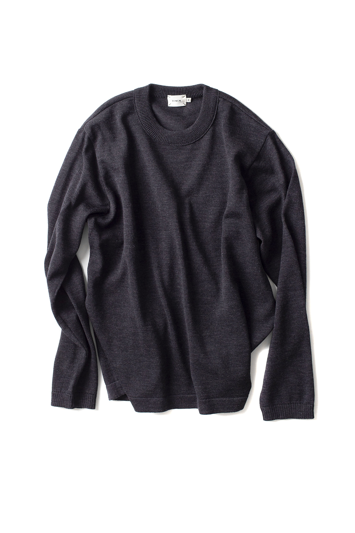 RINEN : Wool Knit Crewneck 13981 (Dark Grey)